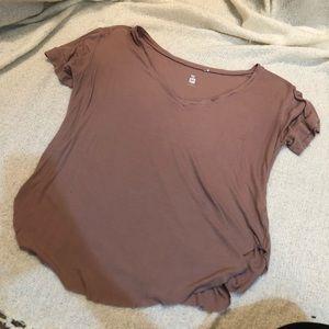 Mauve short sleeve t shirt